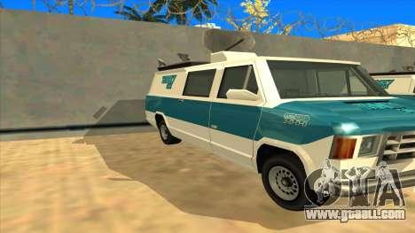 News Van HQ for GTA San Andreas left view
