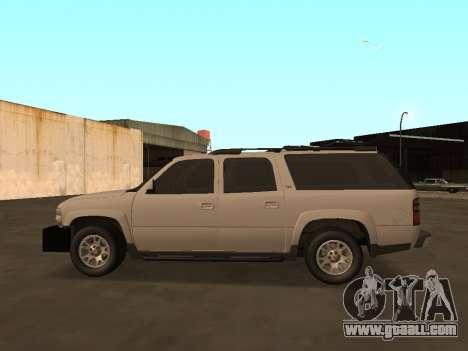 Chevrolet Suburban ATTF for GTA San Andreas left view