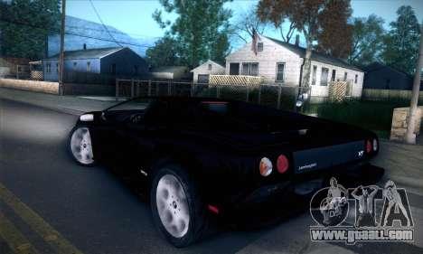 Lamborghini Diablo VT6.0 for GTA San Andreas back view
