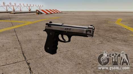 Self-loading pistol Beretta M92 for GTA 4