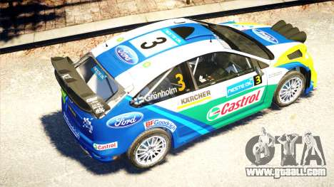 Ford Focus RS M Gronholm Rally Finland WRC for GTA 4 inner view