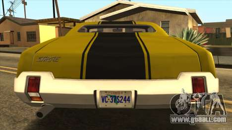 Sabre HD from GTA 3 for GTA San Andreas right view