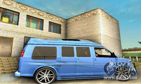 GMC Savana for GTA San Andreas upper view