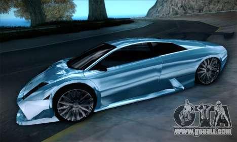 Lamborghini Murcielago GT Coloured for GTA San Andreas back view