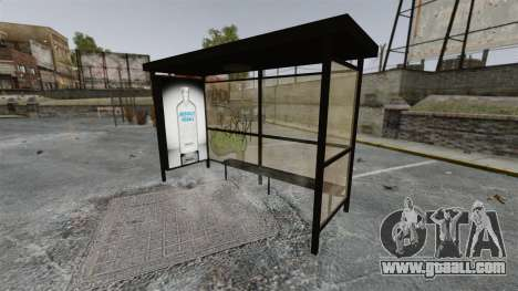 New advertising at bus stops for GTA 4 third screenshot