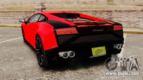 Lamborghini Gallardo 2013 for GTA 4 back left view