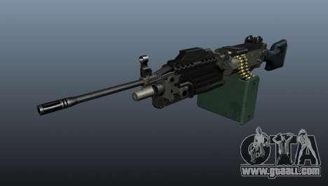 Updated M249 light machine gun for GTA 4