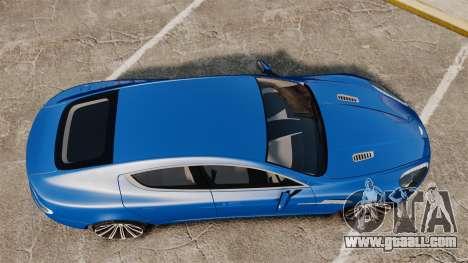 Aston Martin Rapide 2010 for GTA 4 right view