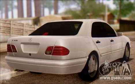 Mercedes-Benz E420 v2.0 for GTA San Andreas back left view