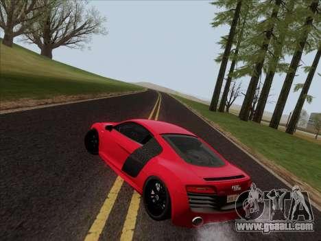 Audi R8 V10 Plus for GTA San Andreas bottom view