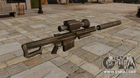 Barrett M82A1 sniper rifle with a silencer for GTA 4 second screenshot