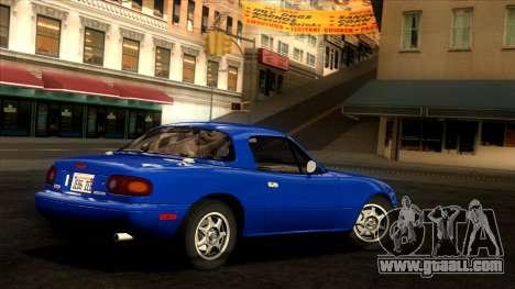 Mazda MX-5 Miata (NA) 1989 for GTA San Andreas left view