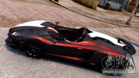 Lamborghini Aventador J 2012 Carbon for GTA 4 left view