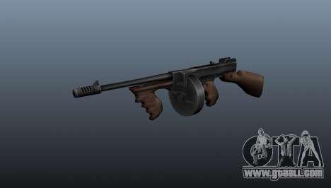Thompson M1928 submachine gun for GTA 4
