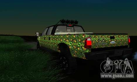 Ford F-250 Realtree Camo Lifted 2010 for GTA San Andreas inner view