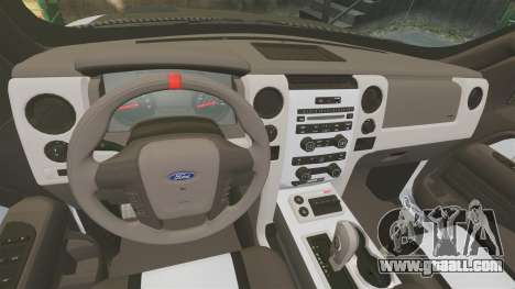 Ford F-150 SVT Raptor 2011 ECOBoost for GTA 4 inner view