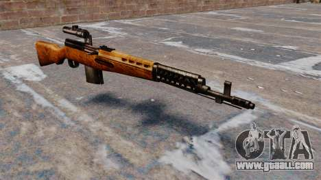 The SVT-40 sniper rifle for GTA 4