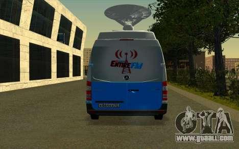 Mercedes Sprinter Entire FM for GTA San Andreas right view