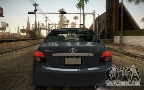 Toyota Vios 2008 for GTA San Andreas back left view