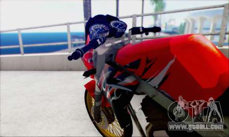 Kawasaki 150L Ninja Series for GTA San Andreas back left view