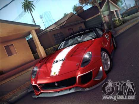 Ferrari 599XX 2012 for GTA San Andreas back left view