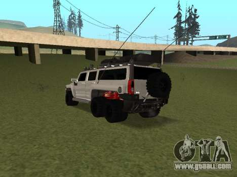 Hummer H3 6x6 for GTA San Andreas back left view