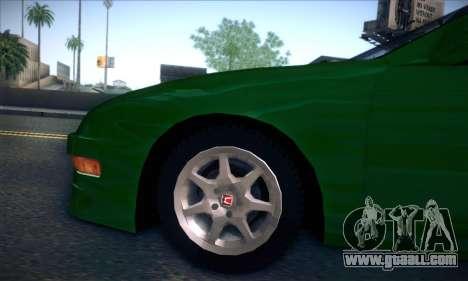 Honda Integra Normal Driving for GTA San Andreas back view