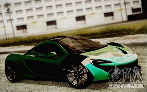 McLaren P1 2014 v2 for GTA San Andreas right view