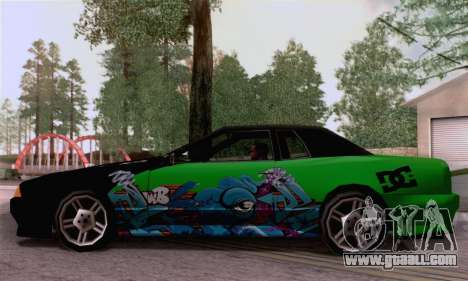 The painting work for Elegy for GTA San Andreas back left view