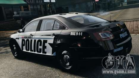 Ford Taurus Police Interceptor 2010 for GTA 4 left view