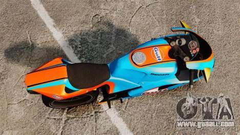 Ducati 848 Gulf for GTA 4 back left view