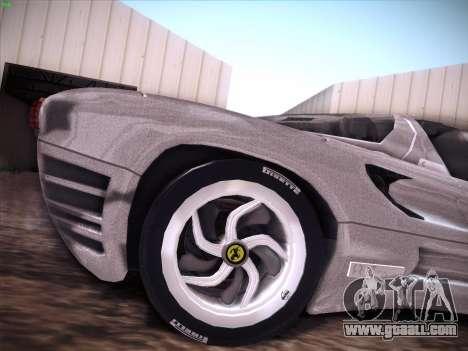 Ferrari P7 Chromo for GTA San Andreas interior