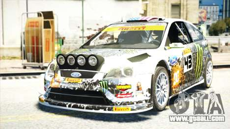 Ford Focus RS Monster World Rally Team WRC for GTA 4