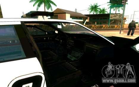 Police Buffalo GTA V for GTA San Andreas back view