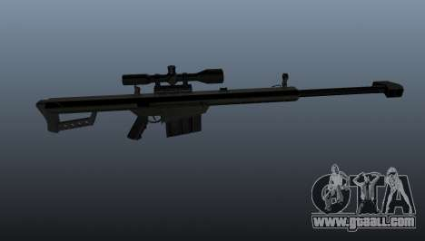 Barrett M82A1 sniper rifle for GTA 4 third screenshot