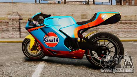 Ducati 848 Gulf for GTA 4 right view