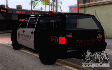 A police jeep from GTA V for GTA San Andreas left view