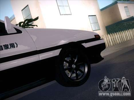 Toyota Trueno AE86 Initial D 4th Stage for GTA San Andreas back left view