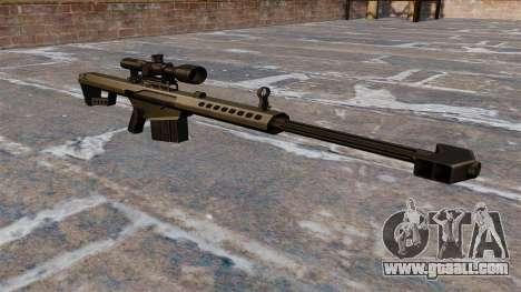 Barrett M82A1 sniper rifle Light Fifty for GTA 4