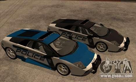 Lamborghini Murciélago Police 2005 for GTA San Andreas inner view