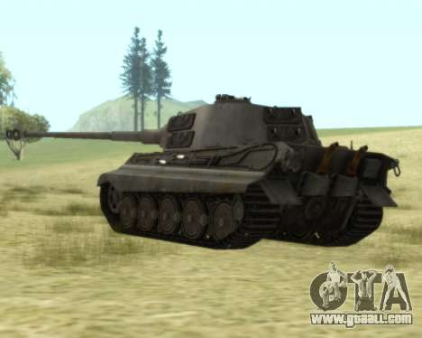 PzKpfw VIB Tiger II for GTA San Andreas right view