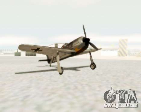 Focke-Wulf FW-190 A5 for GTA San Andreas