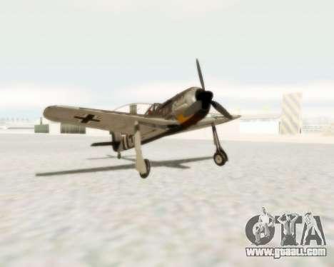 Focke-Wulf FW-190 A5 for GTA San Andreas
