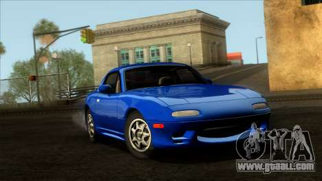 Mazda MX-5 Miata (NA) 1989 for GTA San Andreas bottom view
