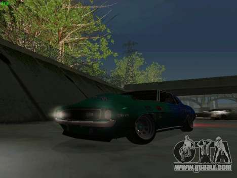Chevrolet Camaro z28 Falken edition for GTA San Andreas side view