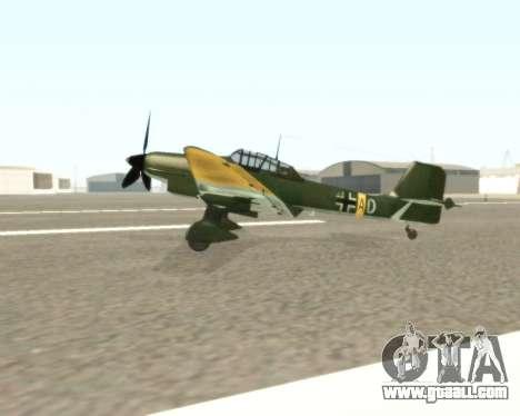 Junkers Ju-87 Stuka for GTA San Andreas left view