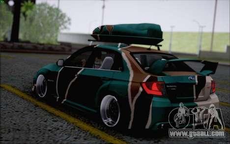 Subaru Impreza Arma for GTA San Andreas back left view