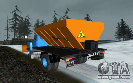 53 GAS snow blower for GTA San Andreas back left view