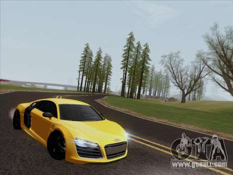 Audi R8 V10 Plus for GTA San Andreas left view
