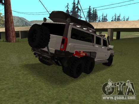 Hummer H3 6x6 for GTA San Andreas right view